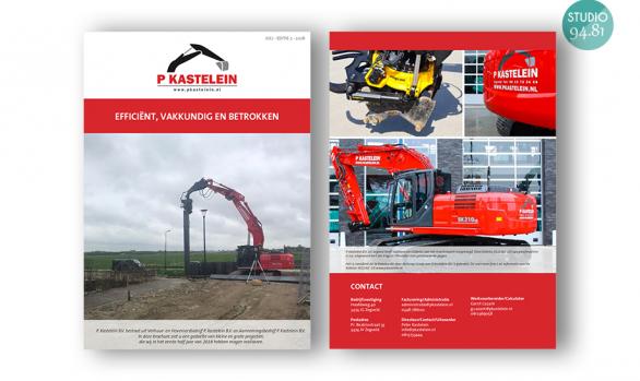 Flyer / Verhuur en aannemingsbedrijf P. Kastelein