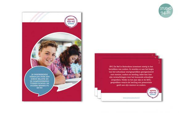 Brochure + kaartenset / Samen zijn wij School